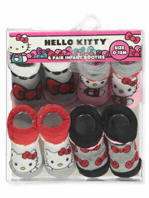 Hello Kitty Baby Girls' 4-Pack Booties