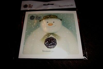 2018 40TH ANNIVERSARY THE SNOWMAN 50p Coin BU Mint Condition NOW SOLD OUT RMINT