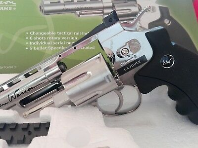 "ASG -Revolver Softair Dan Wesson 4"" silver full metal- CO2 -1 Joule"