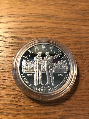2004 Lewis and Clark Commemorative Proof Silver Dollar