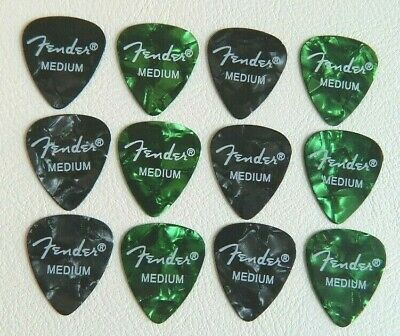 12 x Authentic Fender 0.71 Medium Top Quality Guitar Plectrums Picks Speedy Post