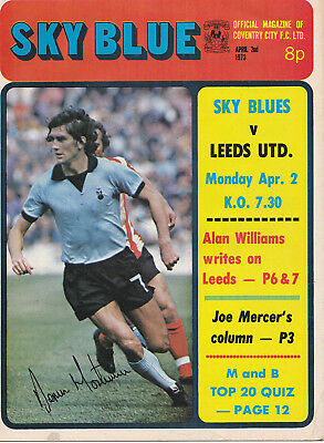 COVENTRY CITY v LEEDS UNITED LEAGUE DIVISION ONE 1972/73