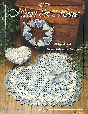 Heart & Home Crochet Pattern Book Mary BuseMelick Heart Coasters Rug Doilies NEW