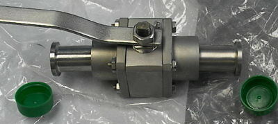 "Stainless Steel Vacuum Ball Valve .627 "" ID. New surplus stock"