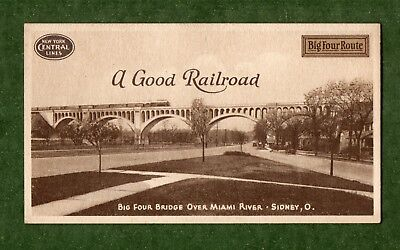 "NEW YORK CENTRAL LINES Ink Blotter - 3½""x6¼"", ""A Good Railroad"", Sidney OH, NM"