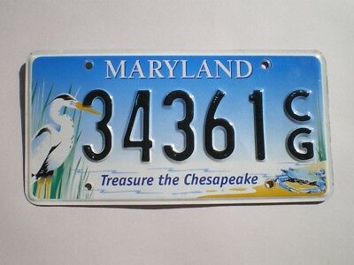 Authentic 2010 Maryland License Plate