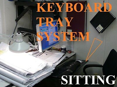 Humanscale Keyboard Tray System for Desk w/Sit-Stand Positioning