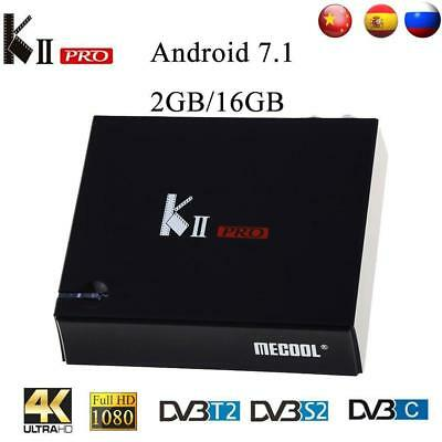 MECOOL KII Pro DVB-T2 y S2 DVB-C Android 7,1 TV Box Amlogic S905D Quad-core BT4.