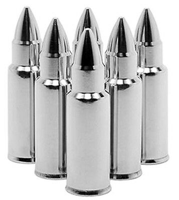 6 Bullet Ice Cubes Polished Stainless Steel Bar Whisky