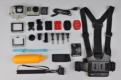 GoPro Hero 4 Silver 4K Ultra HD Action Camera + Many accessories