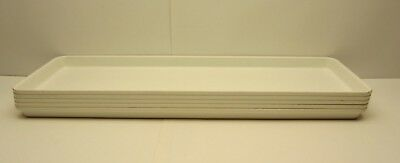 5 MFG Toteline Molded Fiberglass Tray Co. 333001 White Assembly Display Conveyor