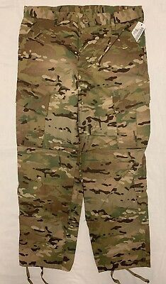 Army FR  ACU Pants Multicam Medium Short Insect Shield NWT New #02
