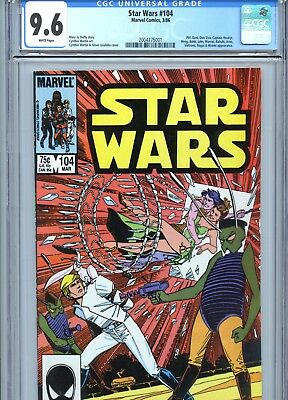 Star Wars #104 CGC 9.6 White Pages Marvel Comics 1986