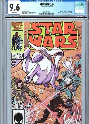 Star Wars #105 CGC 9.6 White Pages Marvel Comics 1986