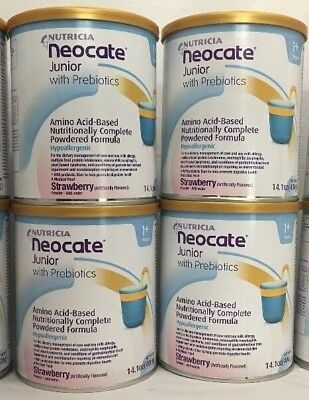 Neocate Jr Strawberry Junior  w Prebiotics 4 cans Original Formula Case PRIORITY