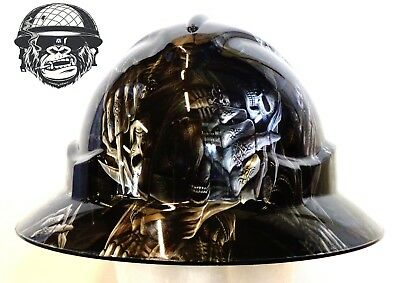 Australian customized wide brim hard hats Hydrographic Safety THE REAPER