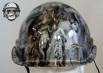 Custom Hydrographic Linesman Safety Hard Hat BLINDFOLD AIRBORNE