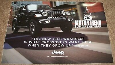 """Eight 2019 Jeep Wrangler Motor Trend Suv Of The Year Dealers Stickers 12"""" X 18"""""""