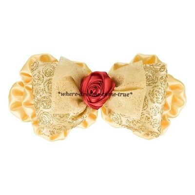 "Disney Parks Beauty & the beast ""Belle"" Interchangeable Ears Swap Your Bow (NEW)"