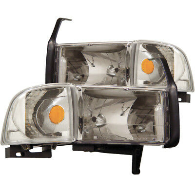 ANZO for 1994-2001 Dodge for Ram Crystal Headlights Chrome - anz111068