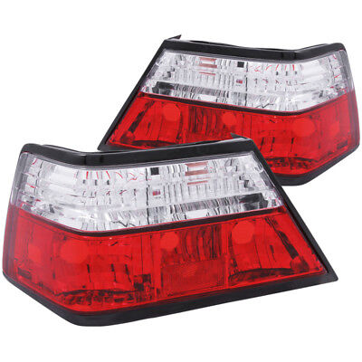 ANZO 1986-1995 Mercedes Benz E Class W124 Taillights Red/Clear - anz221159