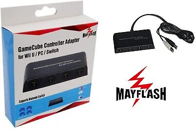 Mayflash 4-Port Controller Adapter for Nintendo GameCube to Switch / Wii U / PC