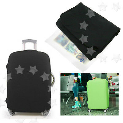 """26-30"""" Luggage Protector Elastic Protective Suitcase Dustproof Cover Bag BLACK"""