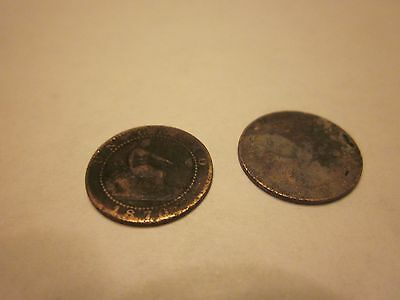 COINS SPAIN 1870's SPANISH EUROPEAN SET OF 3 COLLECTIBLES #734