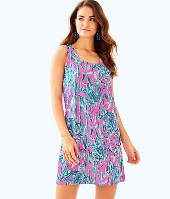 b2595bf96fc217 NWT Lilly Pulitzer Raylee Shift Dress Mandevilla Pink Extra Lucky • LARGE