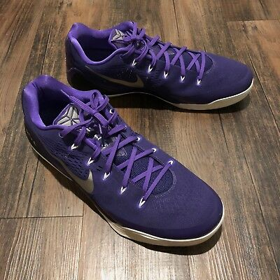 buy online 94352 7be9a Nike Kobe IX 9 TB Purple White Men Basketball 685776 505 Mamba Bryant •  Size 17