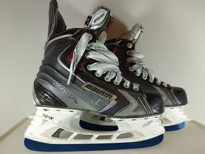 used Bauer Vapor x90 Skates Size 5 with Brand New Byonic BLUE Color blades