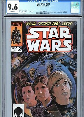 Star Wars #100 CGC 9.6 White Pages Marvel Comics 1985