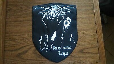 Dark Throne, Transilvanian Hunger,sew On White Embroidered Large Back Patch
