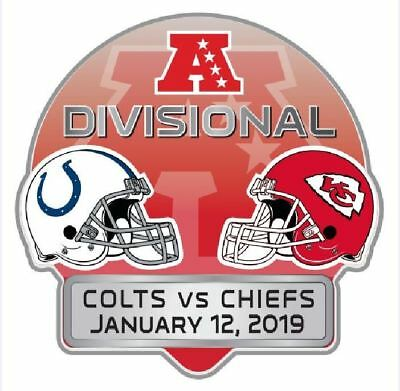 2019 Afc Divisional Playoff Pin Dueling Indianapolis Colts Kansas City Chiefs