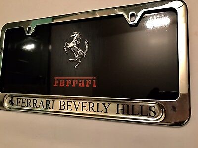 Ferrari Logo Laser Etched Stainless Steel License Plate Frame Auglfferec Car Truck License Plate Frames Tu Berlin Auto Parts And Vehicles