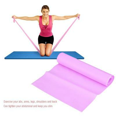 Elastic Yoga Stretch Resistance Exercise Fitness Band Theraband Strap Belt SP