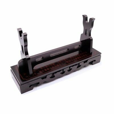 Finish Ancient Chinese Characters Sword Katana Tanto Holder Stand Luxury Lacquer