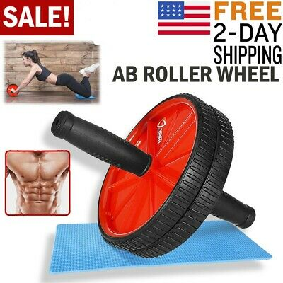 Ab Roller Wheel Abs Crunch Machine Abdominal Stomach Slide Exercise Roll Out USA