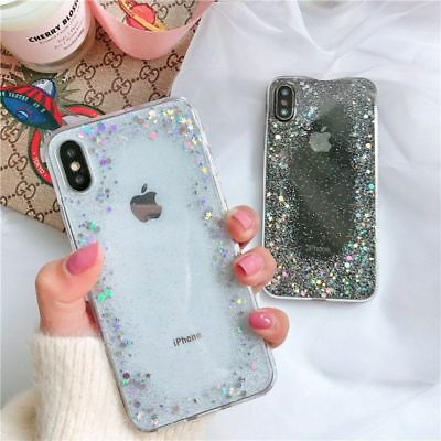Glitter Shockproof Gel Soft Case Silicone Cover For iPhone XR XS MAX 8 7 6 Plus