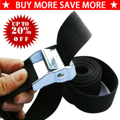 Nylon Pack Cam Tie Down Strap Lash Luggage Bag Belt Buckle 25mm*1M/2M/3M/4M