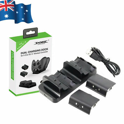 DOBE Dual Controller Charger Dock 2 Batteries Charging Station for Xbox One S/X