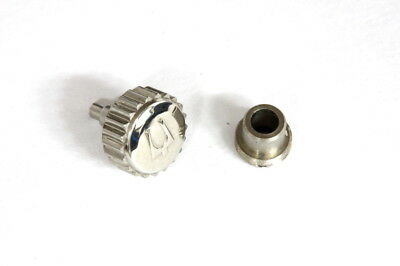 Screw crown (6mm) with crown tube for Bulova super seville watch - Stainless