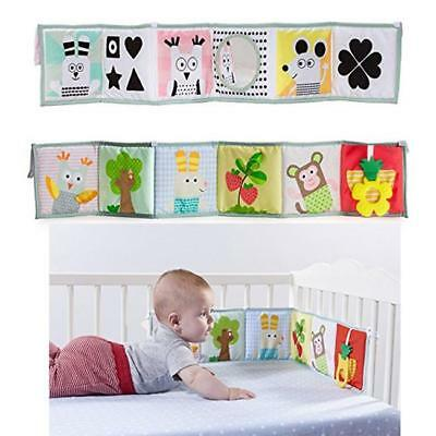 Bed Bumper Crib Mobile Cloth  Around Soft Plush Educational Cot Animals Book LI