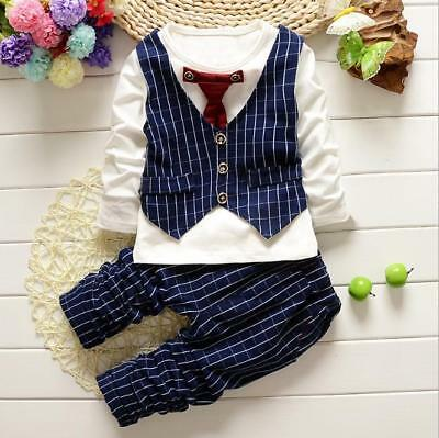 Toddler Baby Little Boy Tops + Pants Clothes Kids Boys Clothing Suit OutfitsSets