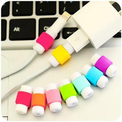 USB Charger Cable Cord Lightning 2pcs Protector Saver Cover For Mobilephone LI