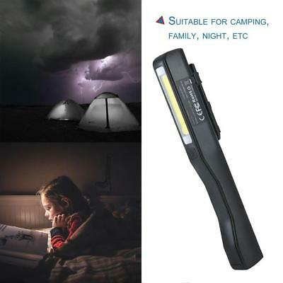2 in 1 USB Rechargeable COB LED Camping Work Inspection Light Lamp Hand Torch BG