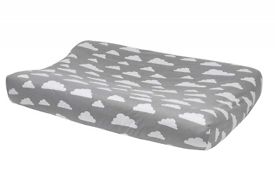 Meyco 516095 Changing pad cover 2-wedge cloud, Grey