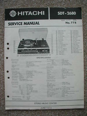 service manual for Hitachi SDT-2680