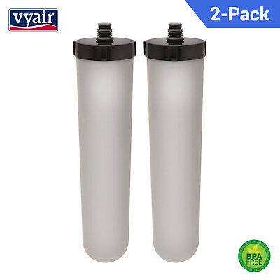 Compatible Ceramic Carbon Water Filter Candle for Franke 02 Triflow/Uniflow x 2