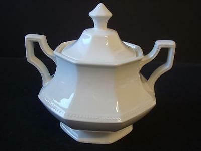 Johnson Brothers Heritage White Lidded Sugar Bowl